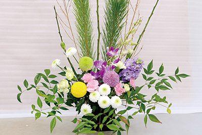 正月用の生け花