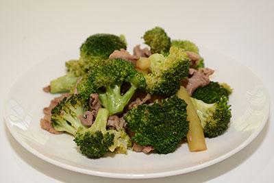 ブロッコリーと豚肉のポン酢炒め
