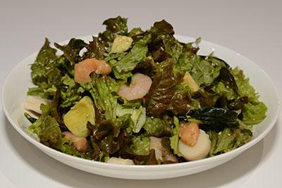 サニーレタスの海鮮サラダ